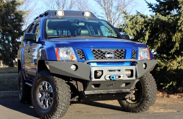 Hefty aluminum xterra plate bumper 05 15